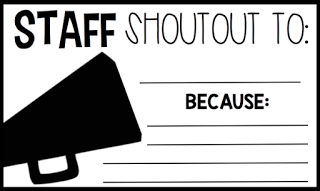 ​Staff Recognition and Shout Outs!